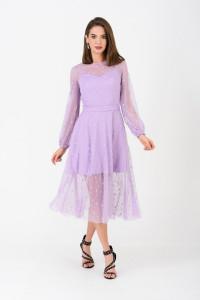Сукня «Бізоль» бузкового кольору