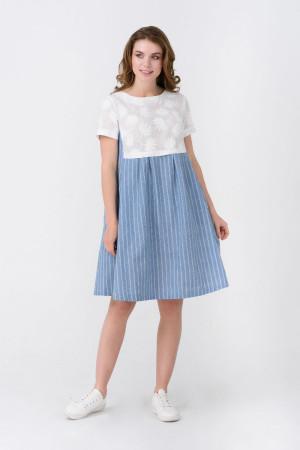 Платье «Эрвина» голубого цвета