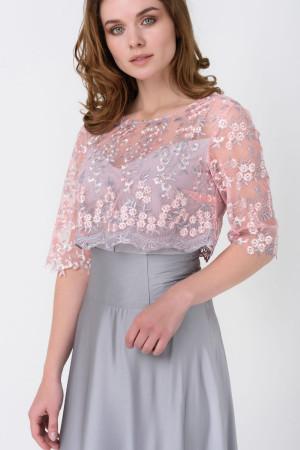 Платье «Ивия» серого цвета