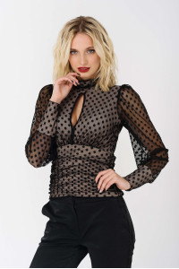 Блуза «Лестер» чорного кольору