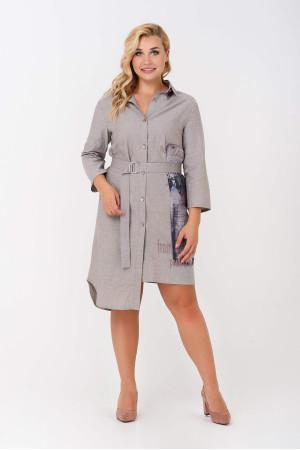 Платье «Дафна» серо-бежевого цвета