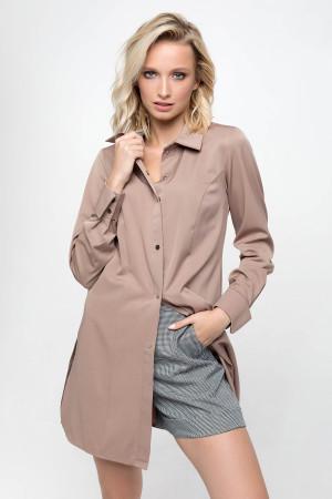 Блуза «Шейн» коричневого цвета