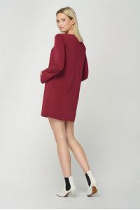 Сукня «Лотар» бордового кольору