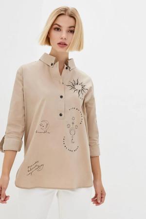 Блуза «Аксина» бежевого цвета