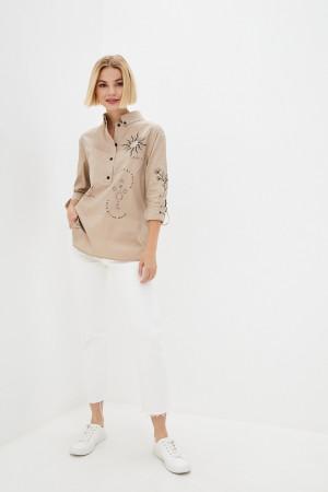 Блуза «Аксина» бежевого кольору