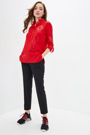 Блуза «Аксина» красного цвета
