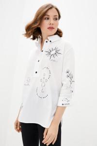 Блуза «Аксина» білого кольору