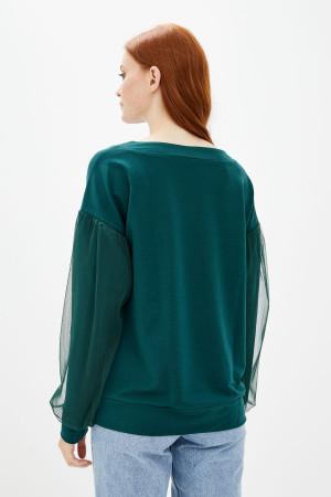 Світшот «Сора» зеленого кольору