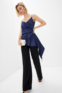 Блуза «Гледіс» темно-синього кольору