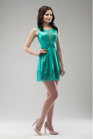 Платье «Брайд» бирюзового цвета