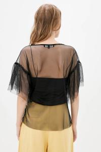 Блуза «Мілліна» чорного кольору з зеленим