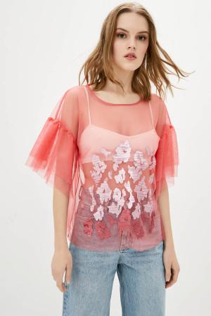 Блуза «Мілліна» коралового кольору