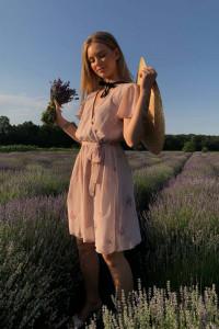 Платье «Парэт» пудрового цвета