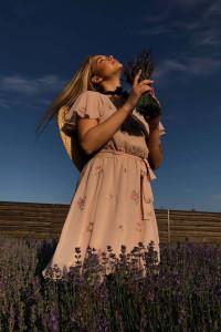 Сукня «Парет» пудрового кольору