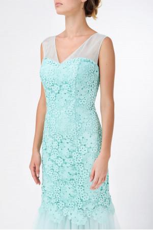 Платье «Оливия» мятного цвета