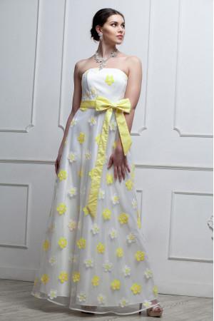 Сукня «Антонія» білого кольору з жовтими квітами