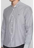 Чоловіча сорочка «Люк» білого кольору в чорну полоску