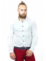Мужская рубашка «Джеймс» белого цвета