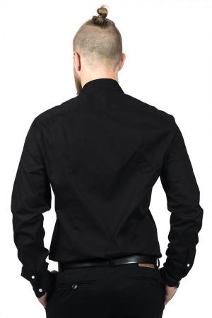 Мужская рубашка «Джеймс» черного цвета