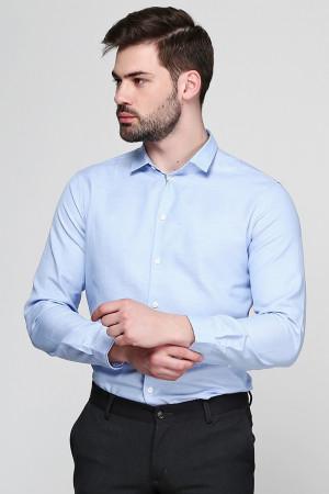 Чоловіча сорочка «Джеймс» блакитного кольору в горошок