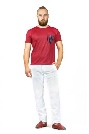 Футболка чоловіча «Дан» червоного кольору