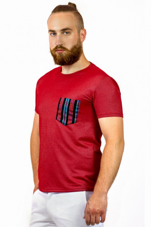 Футболка мужская «Дан» красного цвета