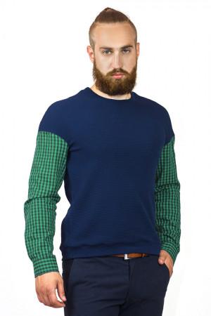 Чоловічий джемпер «Ромул» синього кольору