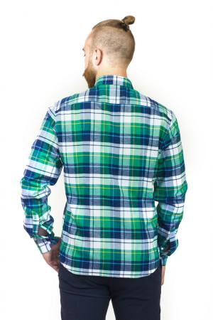 Мужская рубашка «Петер» зеленая клетка