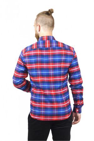 Мужская рубашка «Петер» синяя клетка