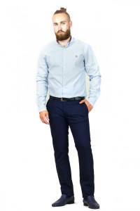 Чоловіча сорочка «Траст» біла з блакитним