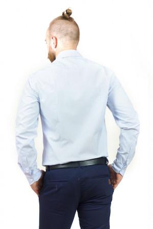 Мужская рубашка «Траст» белая с голубым