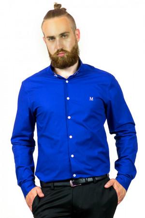 Мужская рубашка «Траст» синего цвета