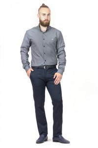 Мужская рубашка «Траст» серого цвета