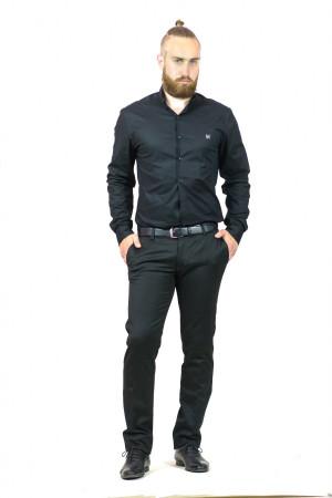 Мужская рубашка «Траст» черного цвета