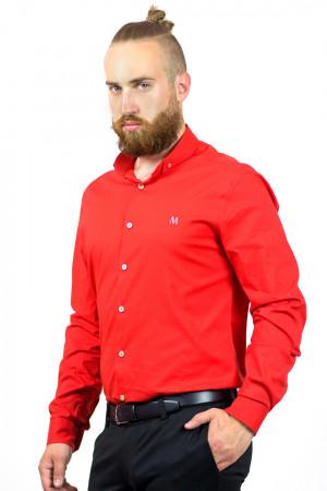 Мужская рубашка «Траст» красного цвета