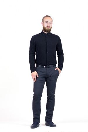 Мужская рубашка «Болд» черного цвета