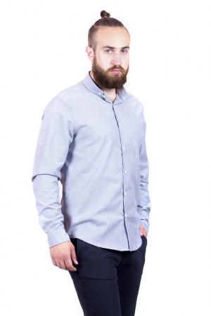 Мужская рубашка «Болд» серого цвета