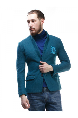 Мужской пиджак «Хендл» цвета морской волны