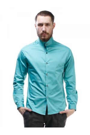 Мужская рубашка «Блейз» бирюзового цвета