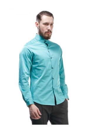 Чоловіча сорочка «Блейз» бірюзового кольору
