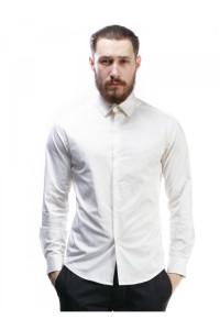 Чоловіча сорочка «Дакт» білого кольору з вишивкою
