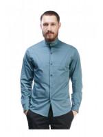 Чоловіча сорочка «Дюк» бірюзового кольору
