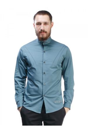 Мужская рубашка «Дюк» бирюзового цвета