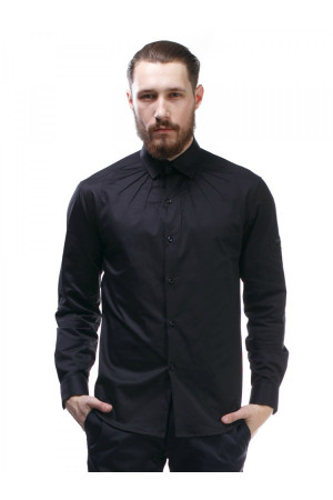 Мужская рубашка «Гайд» черного цвета