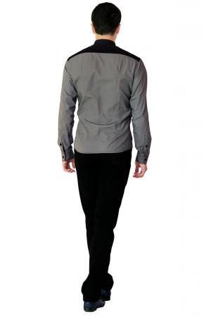 Мужская рубашка «Хаб» серого цвета