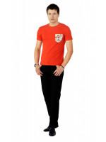 Футболка мужская «Фил» оранжевого цвета