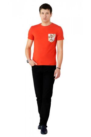 Футболка чоловіча «Філ» помаранчевого кольору