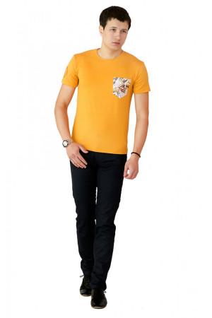 Футболка мужская «Фил» желтого цвета