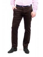 Мужские брюки «Норес» из вельвета коричневого цвета