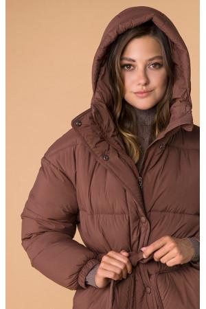 Жіноча куртка «Унга» коричневого кольору